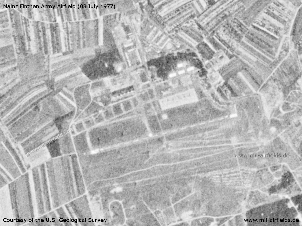 Mainz Finthen Army Airfield AAF, Germany, on a US satellite image 1977