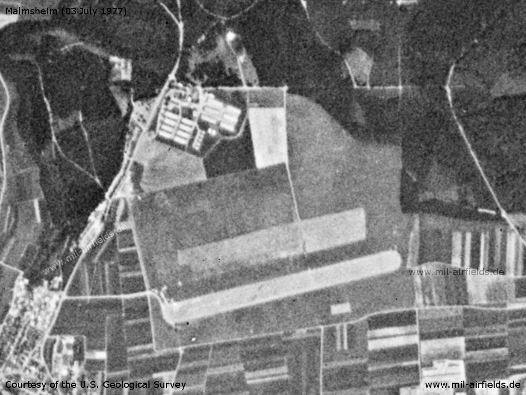 Malmsheim Airfield, Germany, on a US satellite image 1977