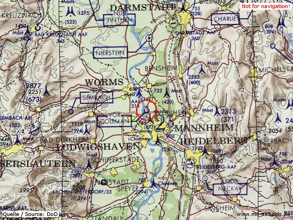 Mannheim Bundesland Karte.Coleman Army Airfield Mannheim Sandhofen Military Airfield Directory