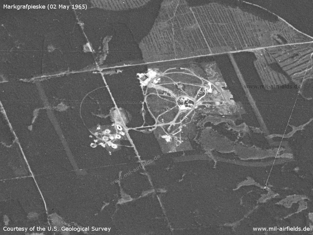 Anti-aircraft missile site, Markgrafpieske, East Germany