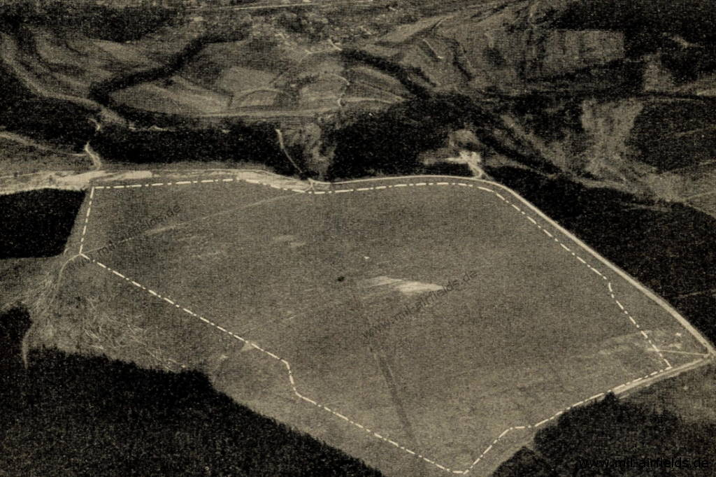Aerial photo of Meiningen airfield from the 1920s