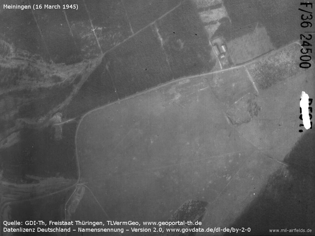 Meiningen airfield in World War II 1945