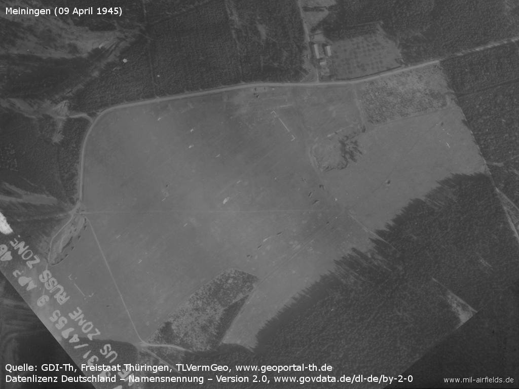The airfield in April 1945
