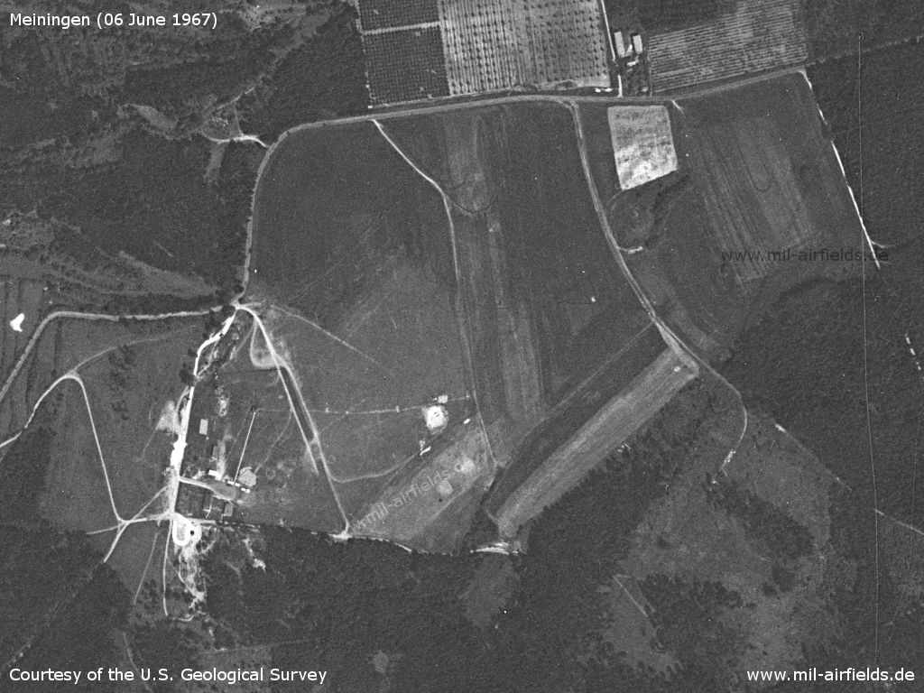Meiningen Airfield, Germany, on a US satellite image 1967