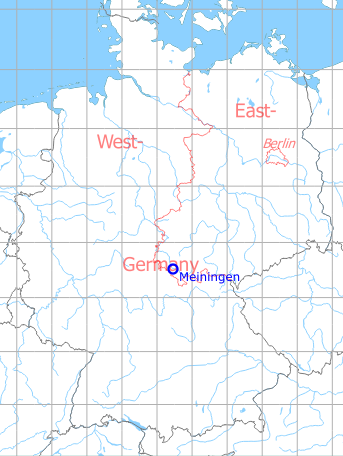 Map with location of Meiningen Airfield / Heliport