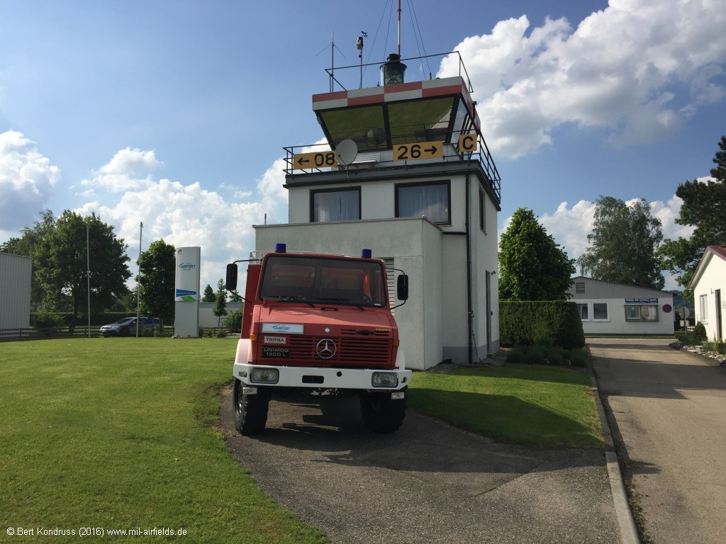 New control tower with rescue vehicle
