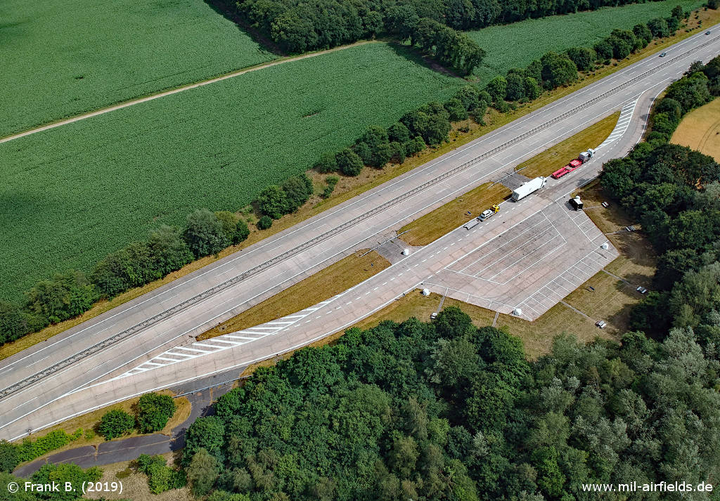 Aerial photo Autobahn A 27 Midlum Highway Strip, Germany