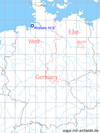 Map with location of Midlum Highway Strip, Germany