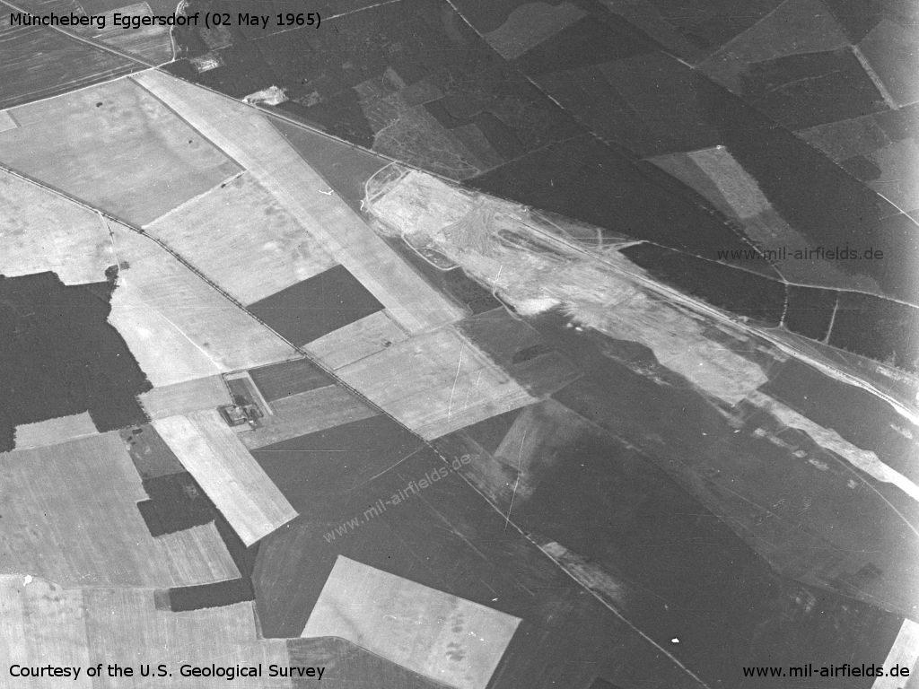 Müncheberg Eggersdorf Airfield, Germany, on a US satellite image 1965