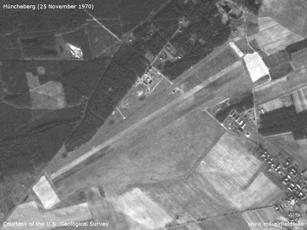Müncheberg Eggersdorf Airfield, Germany, on a US satellite image 1970