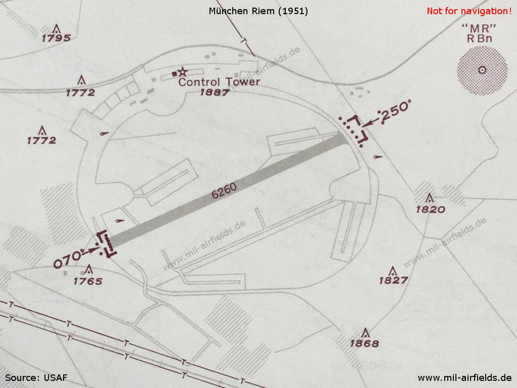 Munich riem airport military airfield directory chart of munich riem airport in 1951 ccuart Image collections