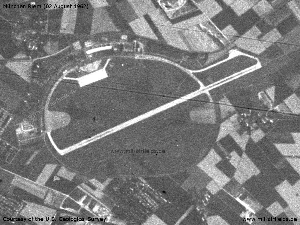 Munich Riem Airport, Germany, on a US satellite image 1962