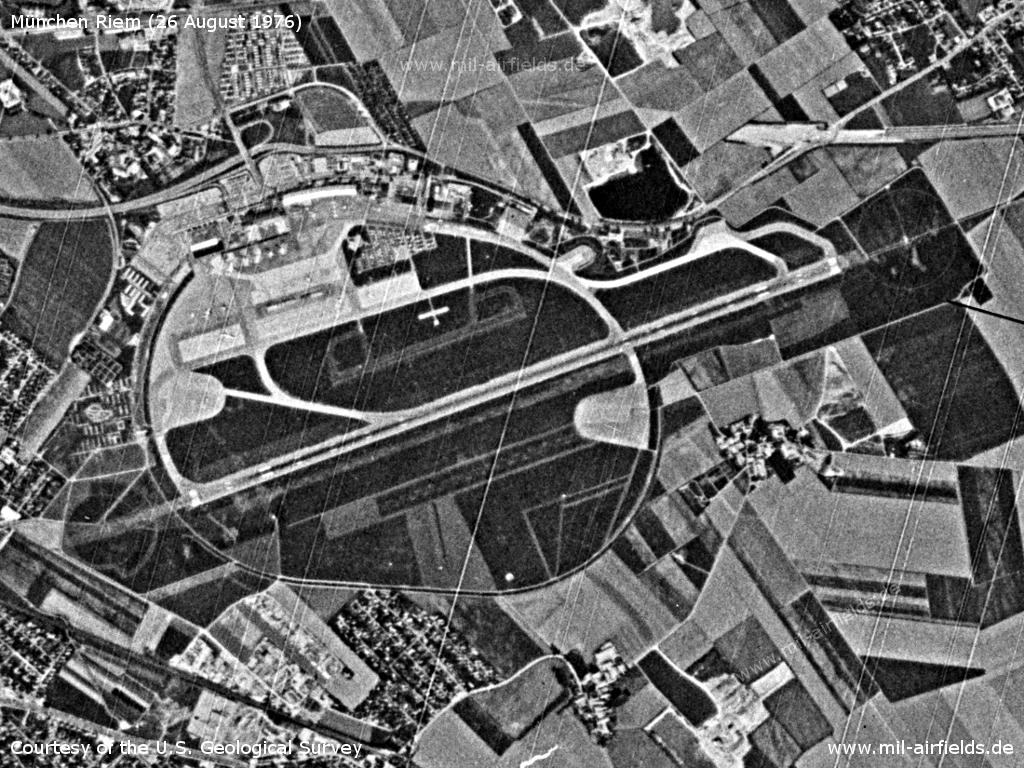 Munich Riem Airport, Germany, on a US satellite image 1976
