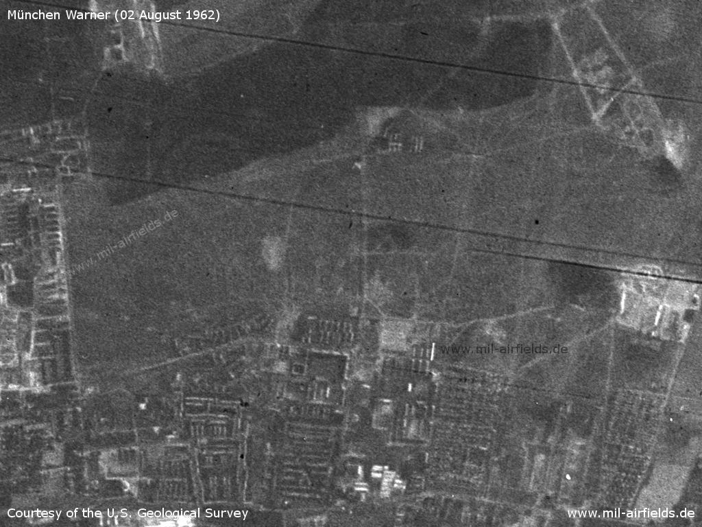 Munich Warner Strip Airfield, Germany, on a US satellite image 1962