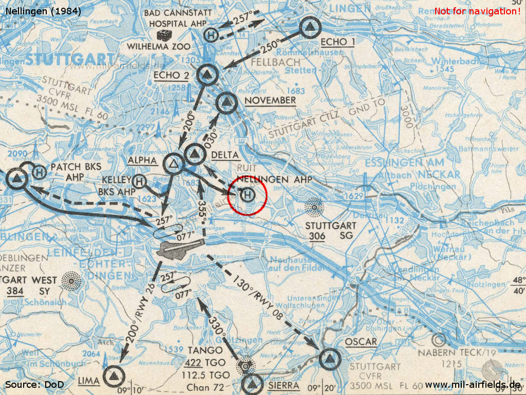 Map Of Stuttgart Aire From 1984