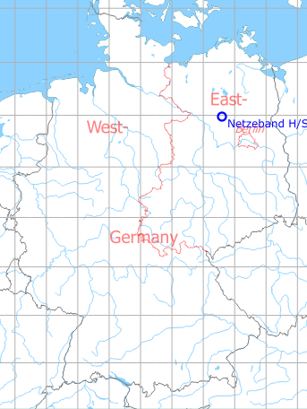 Map with location of Netzeband Highway Strip, Germany