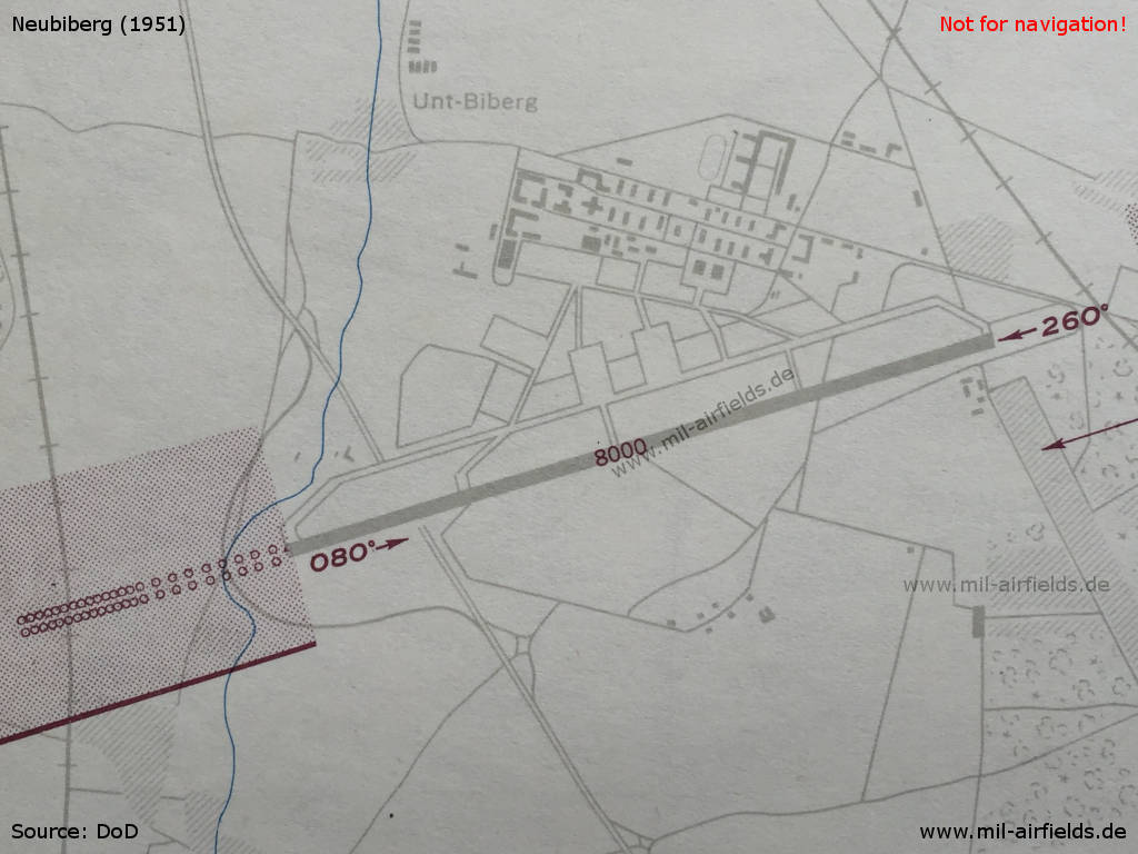 Map USAF airfield Neubiberg 1954