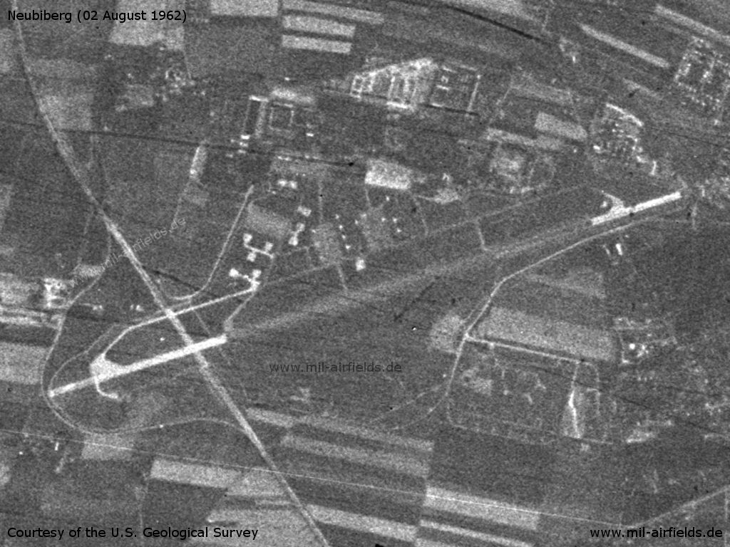 Neubiberg Air Base, Germany, on a US satellite image from 02 August 1962