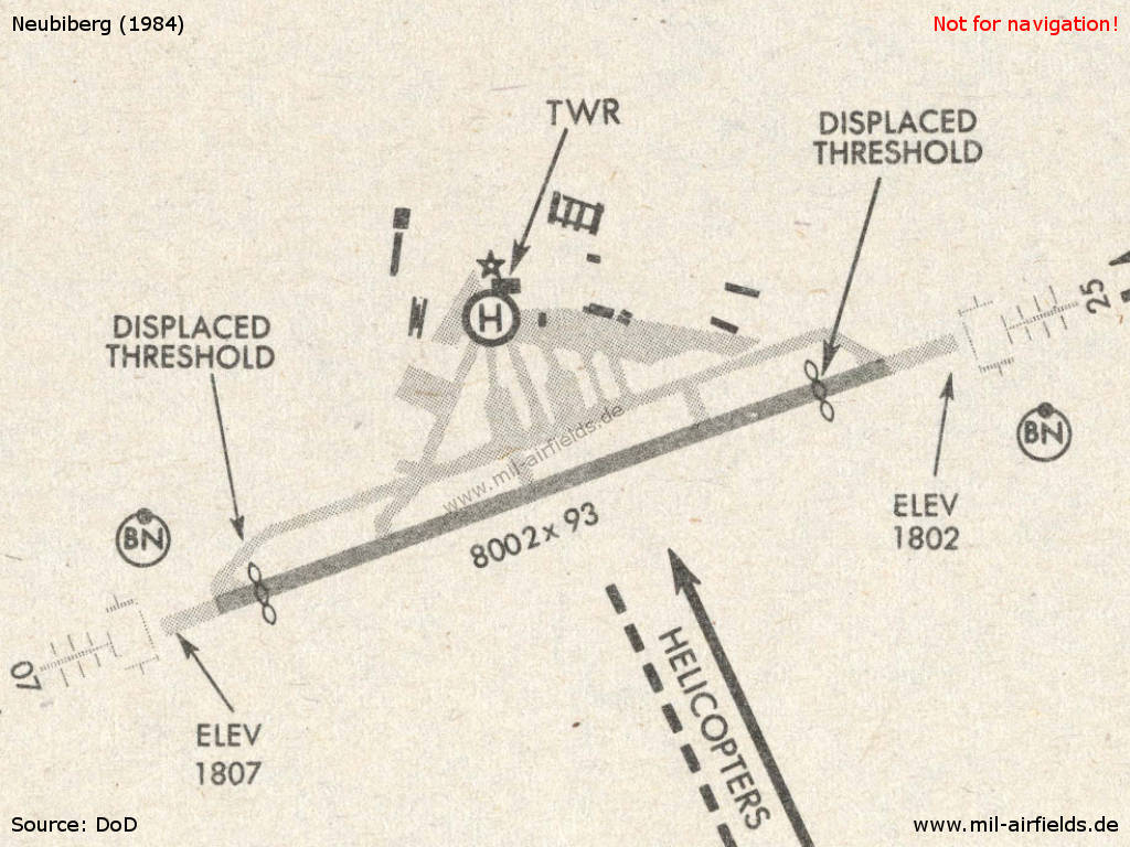 Chart of Neubiberg Air Base 1984