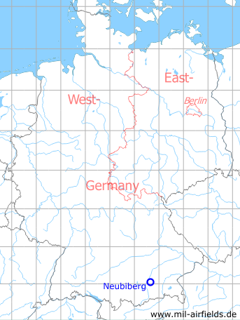 Map with location of Neubiberg Air Base