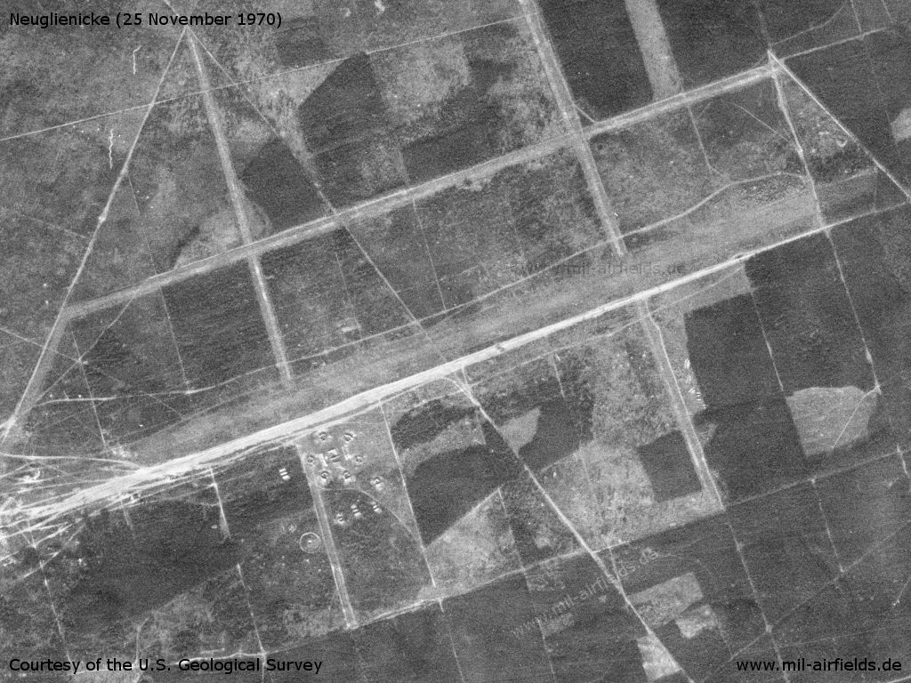 Neuglienicke Airfield, Germany, on a US satellite image 1970