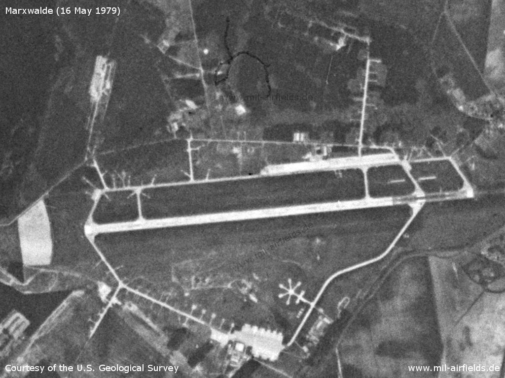 Satellite image of Marxwalde Airfield, 1979