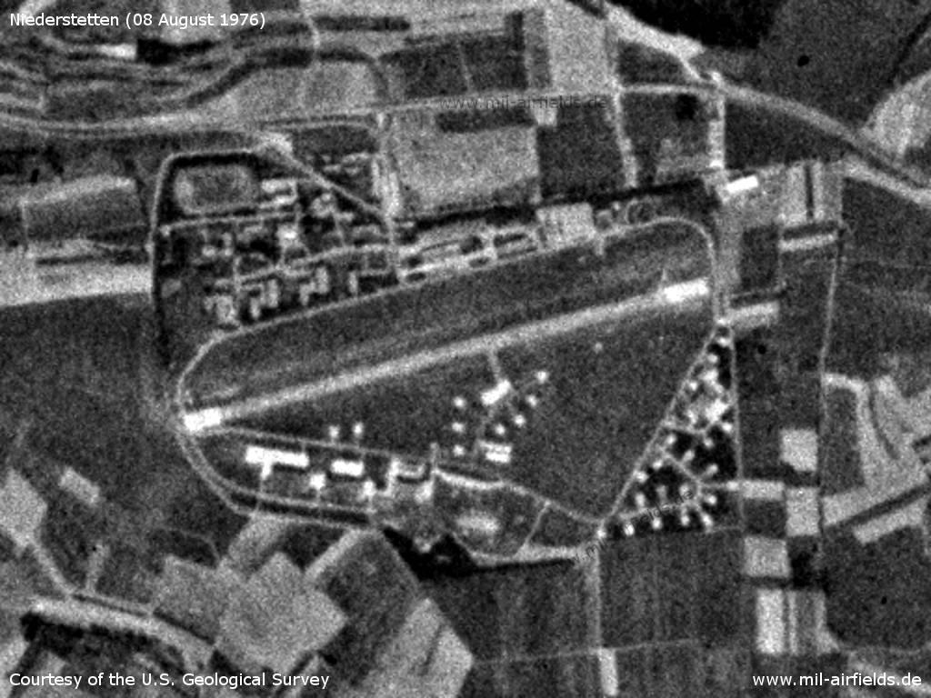 Flugplatz Niederstetten auf einem Satellitenbild 1976