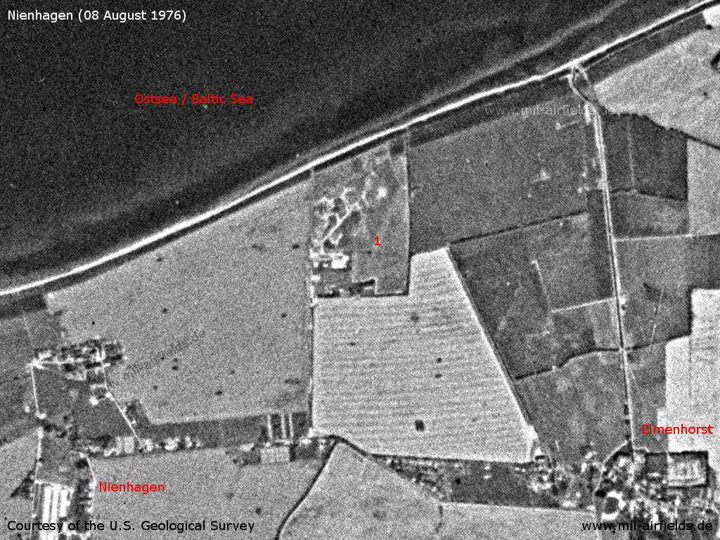 Nienhagen Anti-aircraft Missile Unit 436, East Germany, on a US satellite image 1976