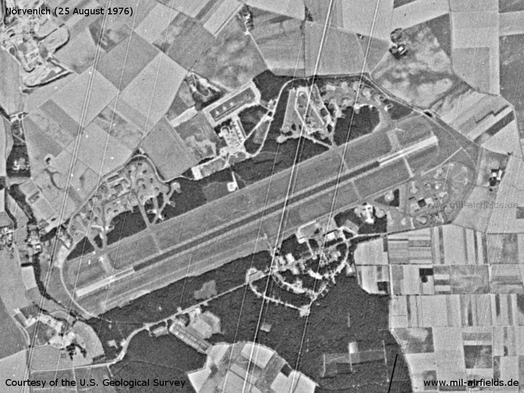 Nörvenich Air Base, Germany, on a US satellite image 1976