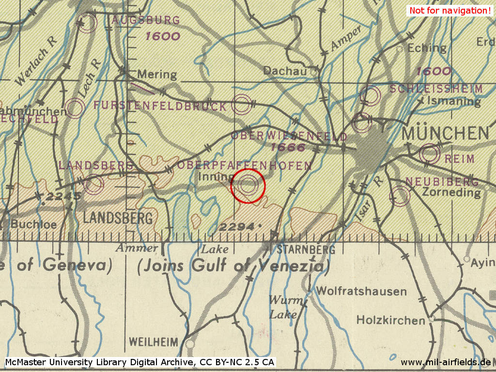 Oberpfaffenhofen airfield military airfield directory map of airfields in the munich area germany in 1944 oberpfaffenhofen airfield ccuart Images