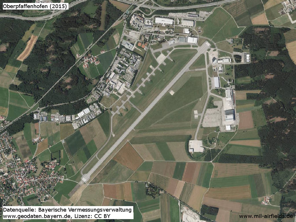 Orthophoto 2015 Oberpfaffenhofen airfield, Germany
