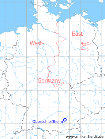 Map with location of Schleissheim airfield