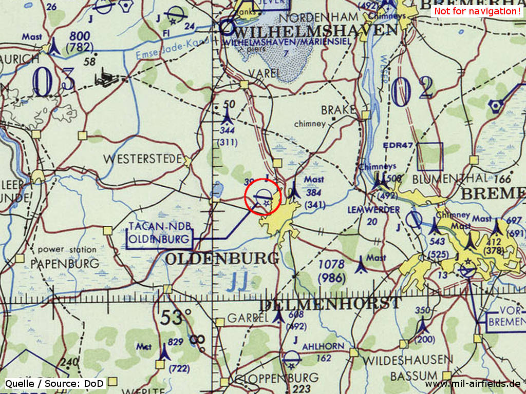 Oldenburg Air Base Military Airfield Directory - Oldenburg map