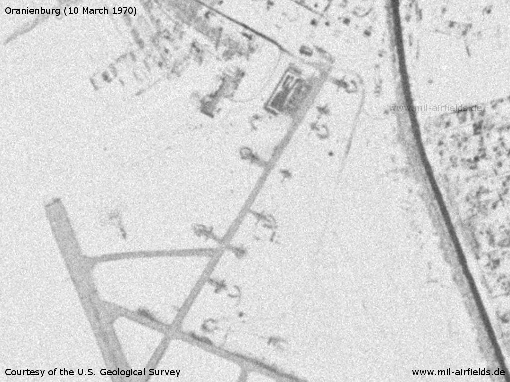 Soviet aircraft in the northeastern part of Oranienburg airfield