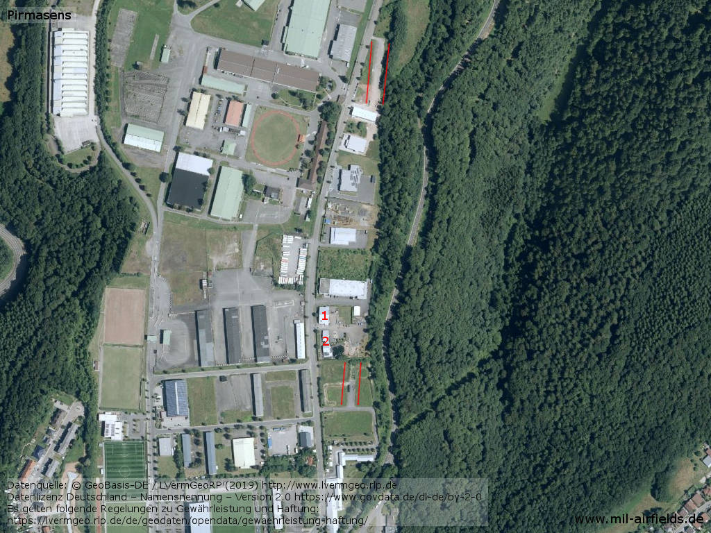Aerial image of Pirmasens Husterhöhe Airfield, Germany