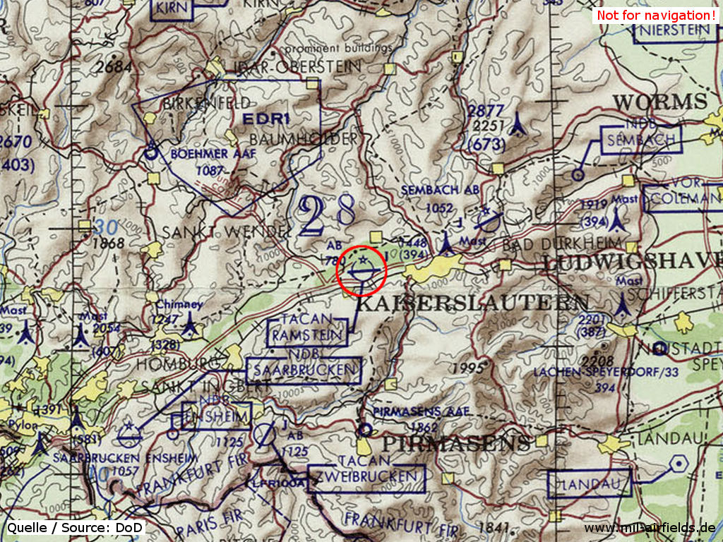 Ramstein Air Base Military Airfield Directory - Germany map ramstein