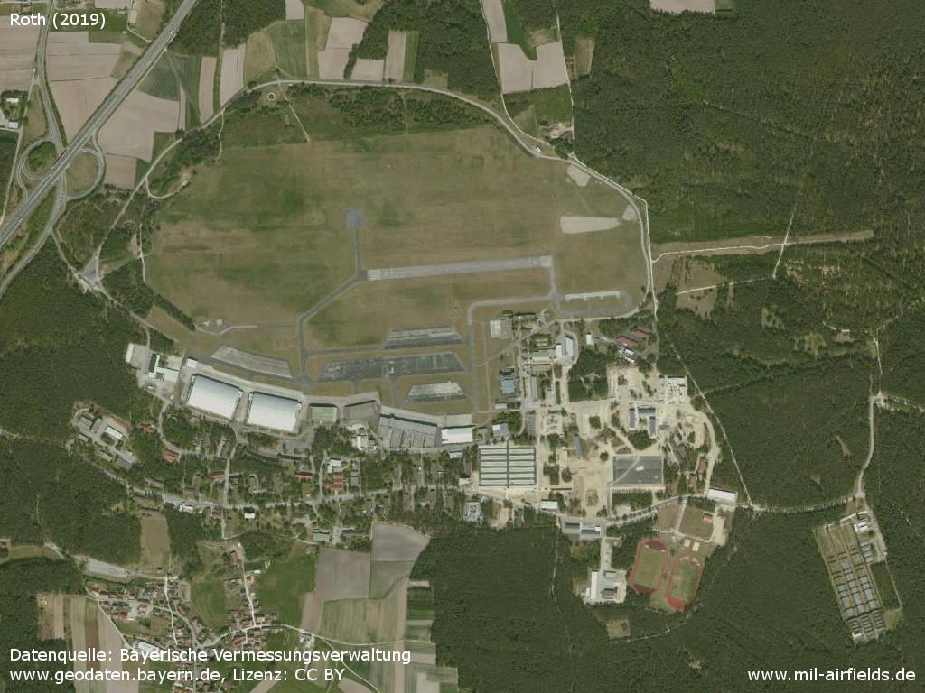 Luftbild Flugplatz Roth 2019