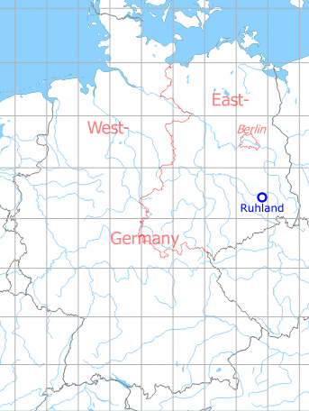 Map with location of Ruhland Highway Strip, Germany