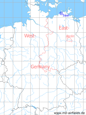 Map with location of Saal Helipad 3365, Germany