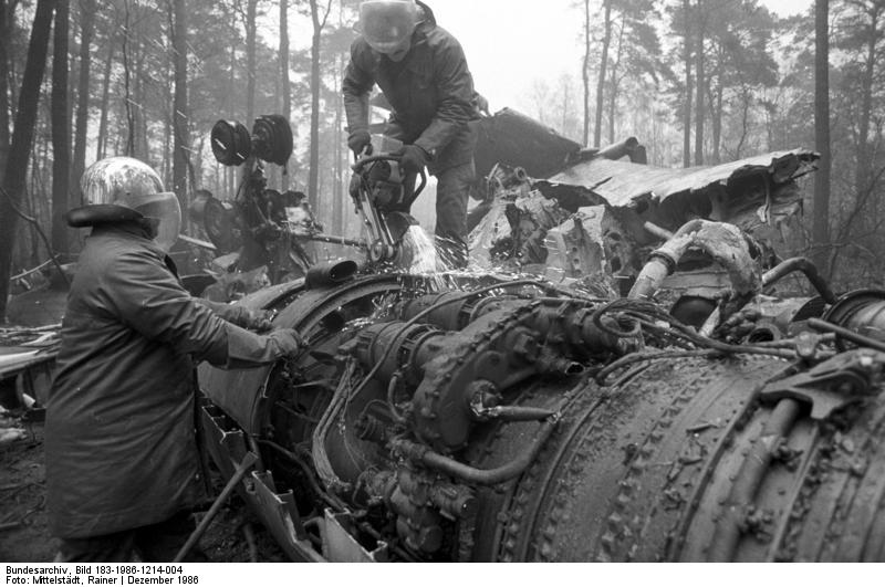 Crash of Tu-134 near Berlin Bohnsdorf