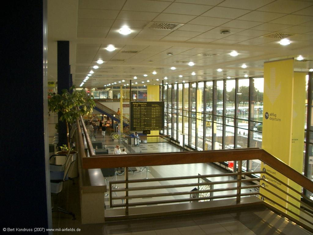 View of the departure area, Berlin Schoenefeld Airport