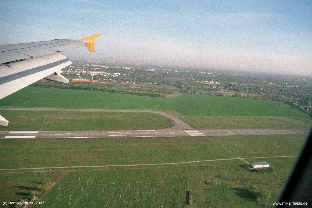 Former northern runway 25R at Berlin Schoenefeld Airport