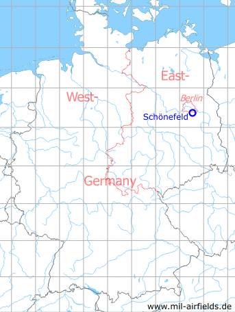 Map with location of Berlin Schoenefeld Airport