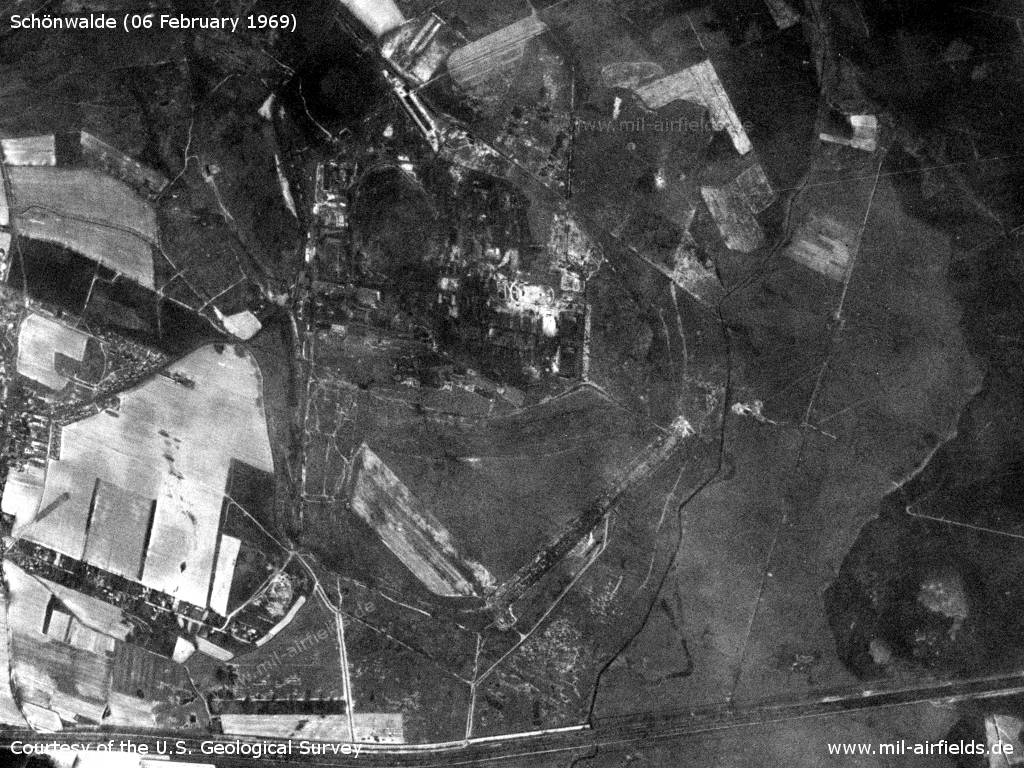 Satellite image February 1969: former Schonwalde Air Base, Germany