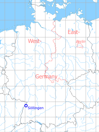 Map with location of Sollingen Air Base
