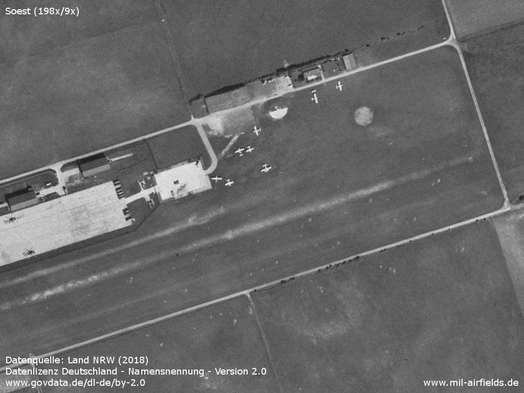 Eastern part of Soest airfield, Germany, with civilian use