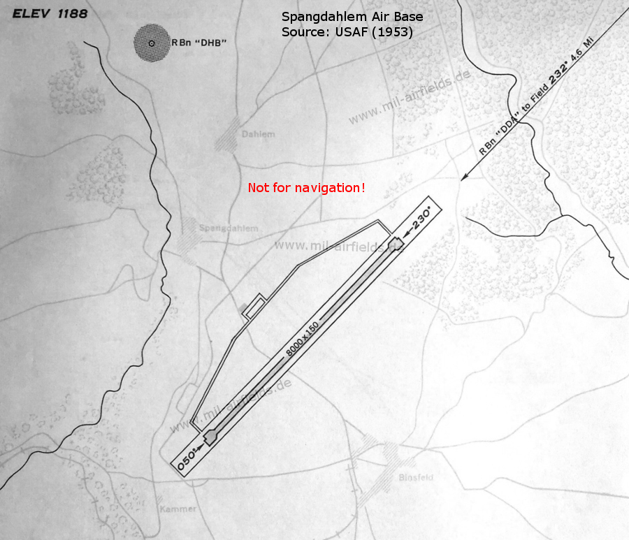 Map of Spangdahlem Airfield 1953