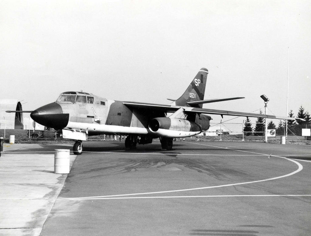 Douglas EB-66E Destroyer der 39th Tactical Electronic Warfare Squadron (39th TEWS) Spangdahlem