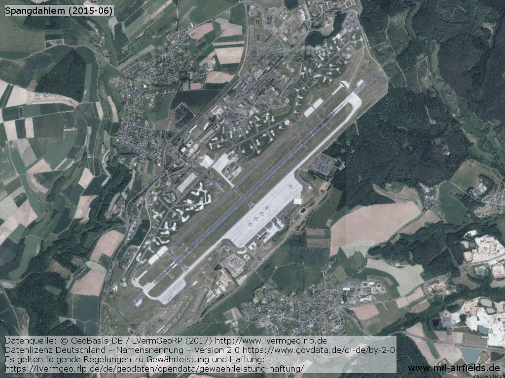 Aerial picture Spangdahlem Airfield from June 2015