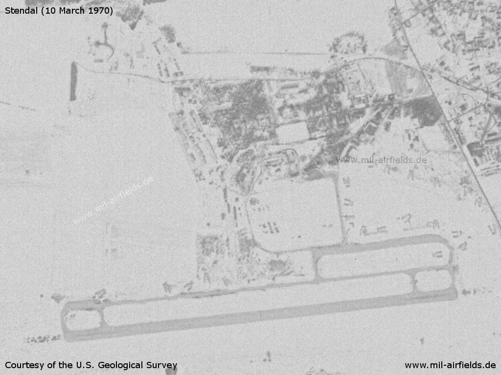 Soviet Stendal Air Base on a satellite image from 1970